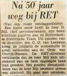 19681218 Na vijftig jaar weg bij RET