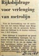 19681221 Rijksbijdrage voor verlenging metrolijn