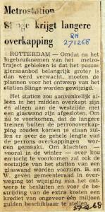 19681227 Langere overkapping voor metrostation Slinge (RN)