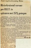 19681228 Rivierkruisend verkeer met 25 pct gestegen