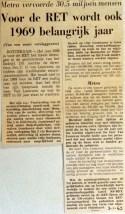 19690103 Voor RET wordt 1969 belangrijk jaar