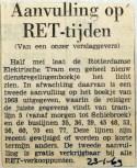 19690123 Aanvulling op RET tijden