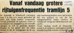 19690205 Grotere frequentie tramlijn 5 (Wijkblad)