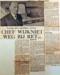 19690312 Chef Wijkniet weg bij RET (Rotterdammer)