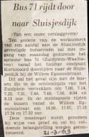 19690321 Lijn 71 naar Sluisjesdijk.