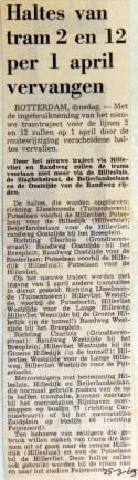 19690325 Haltes tram 2 en 12 vervangen