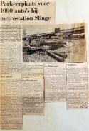 19690509 Parkeerplaats voor 1000 auto's metrostation Slinge