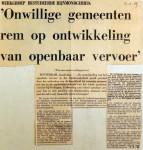 19690612 Onwillige gemeenten remmen openbaar vervoer