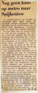 19690617 Nog geen kans op metro naar Spijkenisse