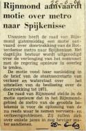 19690625 Rijnmond aanvaardt motie over metro naar Spijkenisse