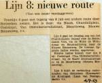 19690704 Lijn 8 nieuwe route