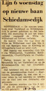 19690718 Lijn 6 op nieuwe baan Schiedamsedijk