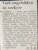 19690929 Veel ongelukken in het verkeer