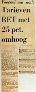 19691201 Tarieven RET met 25 pct omhoog