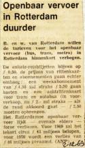 19691202 Openbaar vervoer in Rotterdam duurder