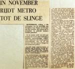 19700103 In november rijdt metro tot de Slinge