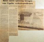 19700108 Metro moest oplossing brengen voor Capelle