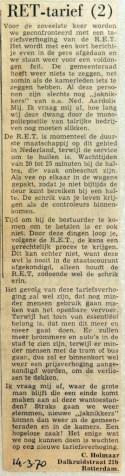 19700314 RET tarief