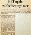 19700318 RET op zelfbedieningstoer