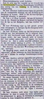 18790725 Raadsdiscussie tram Hillegersberg. (RC)