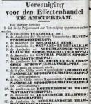 18810421 Vereniging effectenhandel. (AH)
