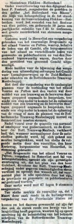 18980221 Stoomtram Flakkee -Rdam. (RN)