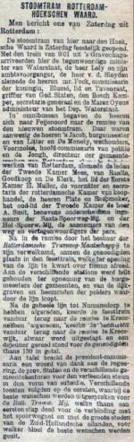 18980503 Opening lijn Hoeksche waard. (de Tijd)