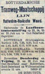 19010724 Aangepaste dienstregeling. (RN)