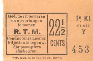 Voor de volledige rit in de eertse klasse werd vanaf 1891 22,5 cents in rekening gebracht.