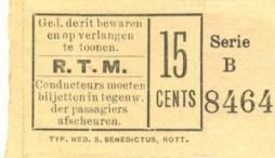 Voor het gehele traject van de intercommunale paardentramlijn Slagveld - Overschie moest 15 cent betaald worden.
