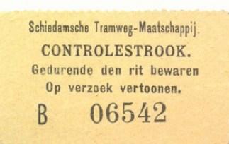 Bij de eerste rit met een retourbiljet werd de controlestrook adoor de cobnducteur afgescheurd.