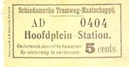 Oorspronkelijk werd er voor een enkele reis over het gehele traject van Hoofdplein naar Station een prijs van vijf cents gerekend.