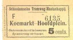 De plaatsbewijzen voor de Schiedamsche Tramweg-Maatschappij warden gedrukt door de lokaal gevestigde  drukkerij van H.A.M. Roelants. Die drukkerij levered de plaatsbewijzen aan een groot deel van de Nederlandse trambedrijven.