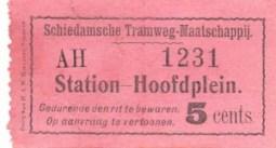 Oorspronkelijk was het kaartjesbestand overzichtelijk; twee enkele reisbiljetten voor iedere richting en een contramerk voor passagiers met een abonnement.