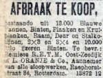 19130210 Afbraak te koop. (RN)