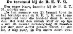 19140214 De toestand bij de R.E.T.M. 1. (Het Volk)