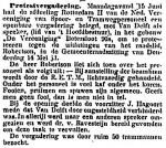 19140617 Protestvergadering. (Het Volk)