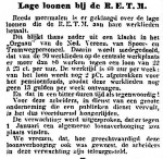 19150108 Lage lonen. (Het Volk)