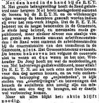 19151104 Aktie blijft nodig. (Het Volk)