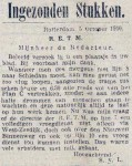 19161007 Vroege dienst. (RN)