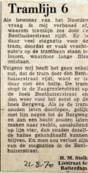 19700821 Tramlijn 6 Benthuizerstraat