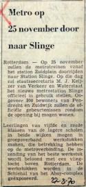 19700827 Metro op 25 november door naar Slinge