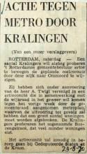 19700829 Actie tegen metro door Kralingen