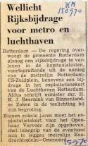 19700915 Wellicht rijksbijdrage voor metro (RN)