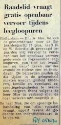 19701005 Raadslid vraagt gratis OV tijdens leegloopuren (RN)