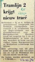 19701023 Tramlijn 2 krijgt nieuw tracee (RN)
