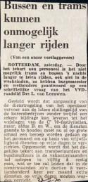 1970523 Bus en tram kunnen niet langer rijden.