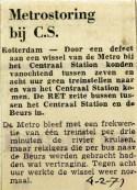 19710204 Metrostoring bij CS
