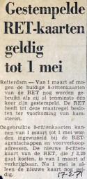 19710217 Gestempelde kaarten geldig.