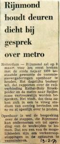 19710219 Rijnmond houdt deuren dicht bij metrogesprek